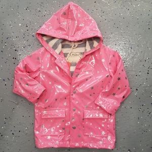 Hatley- Girls Metallic Star Rain Coat